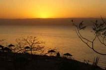 zachód słońca nad zatoką