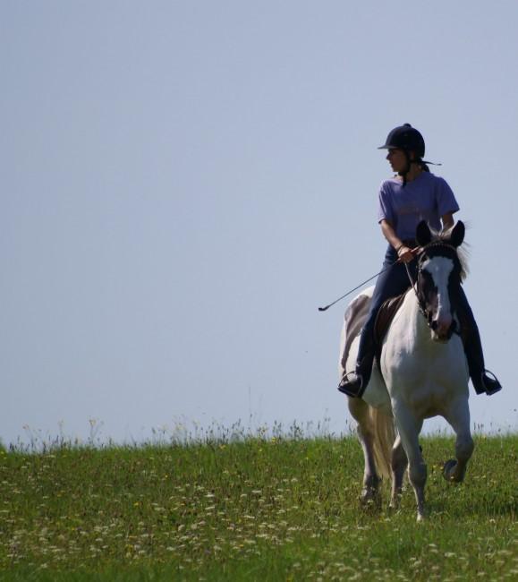 Dziewczyna na koniu