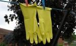 Rękawice gumowe na sznurku