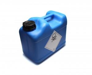 Kanister z substancją chemiczną
