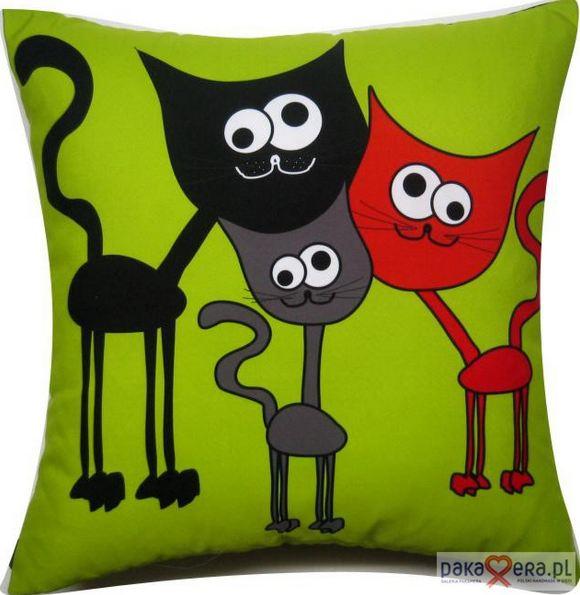 Poduszka z motywem kota
