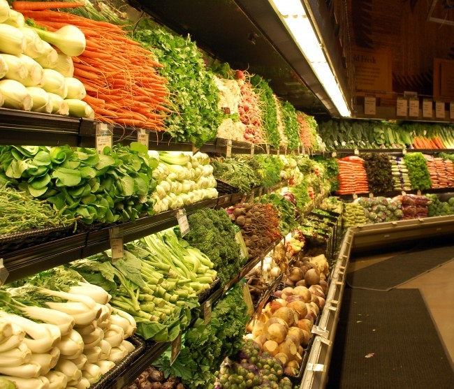Warzywa w supermarkecie