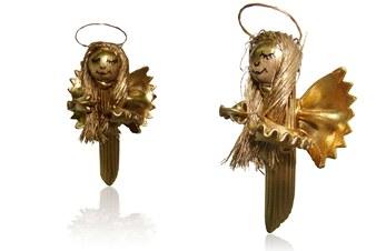 Ozdoby z makaronu - anioł