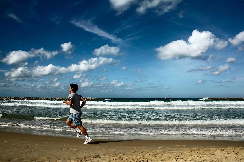 Bieganie po plaży