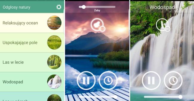 aplikacja odgłosy natury