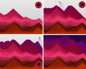 aplikacja na odstresowanie piasek