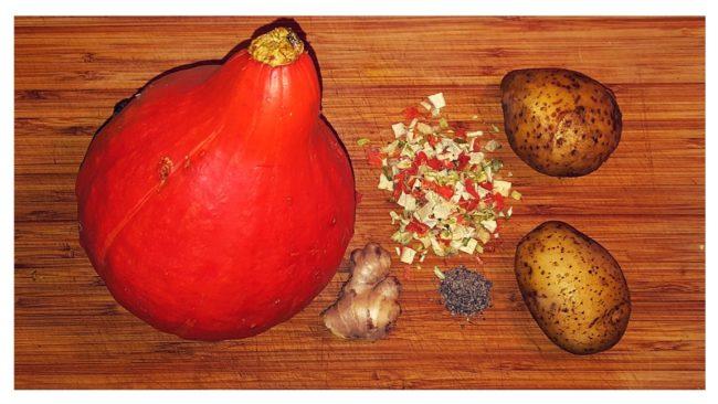 składniki na zupę z dyni